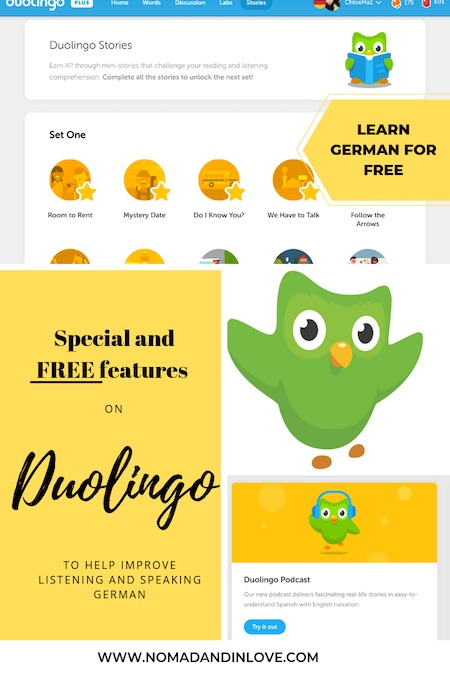 pinterest graphic for learn german free resource