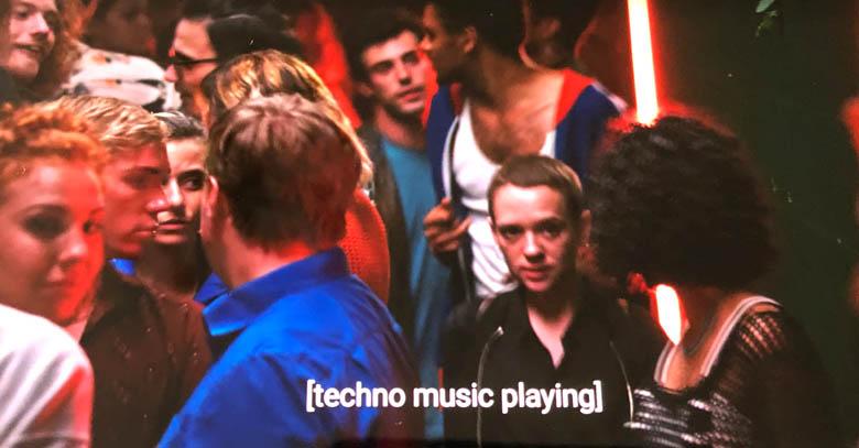 unorthodox netflix club scene with long queues