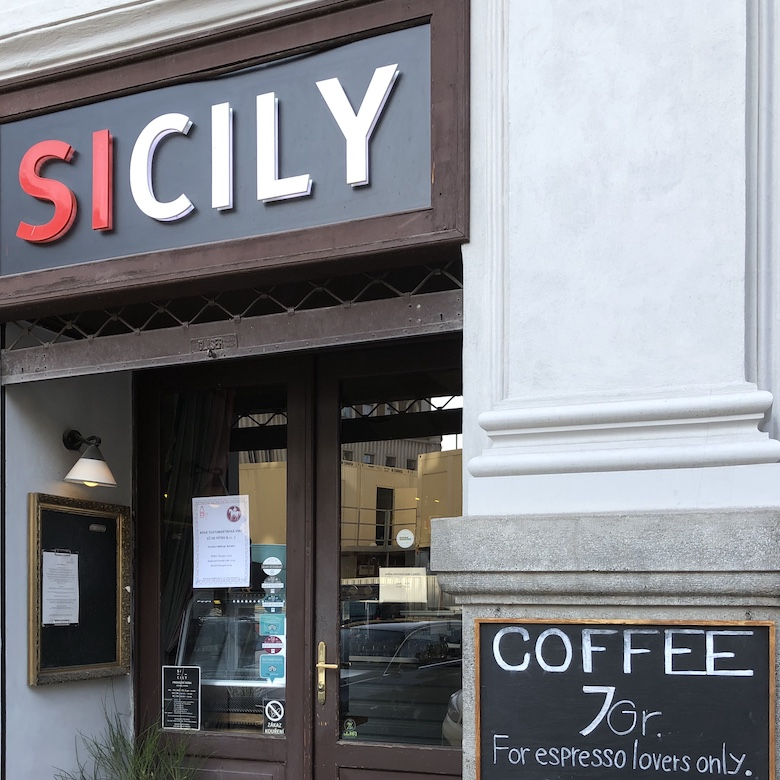 sicily cafe for best coffee in prague