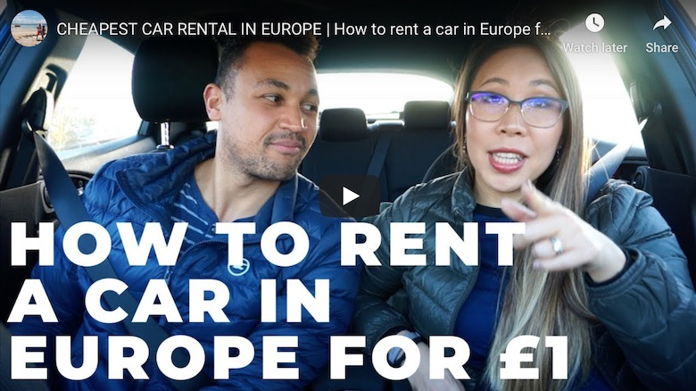 youtube link to finding the cheapest car hire in europe driiveme