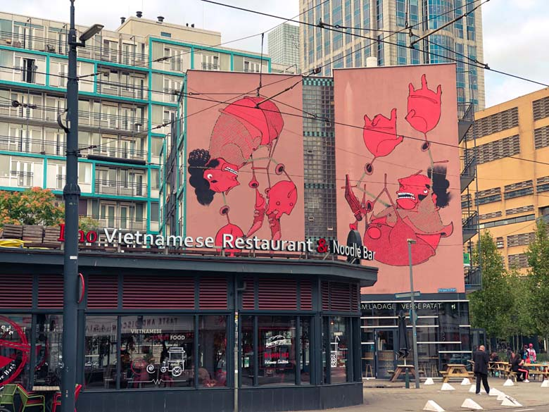 chinatown in rotterdam and street art is a sightseeing attraction
