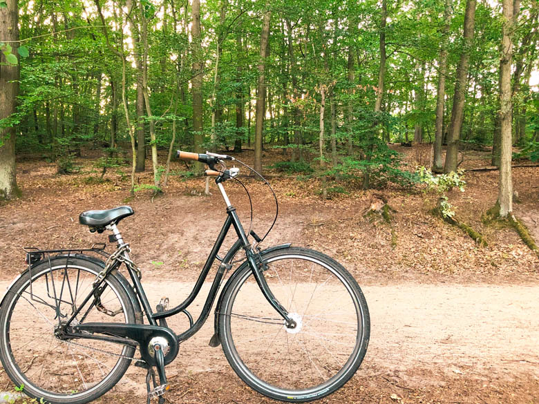 cycling around schlachtensee lake in berlin
