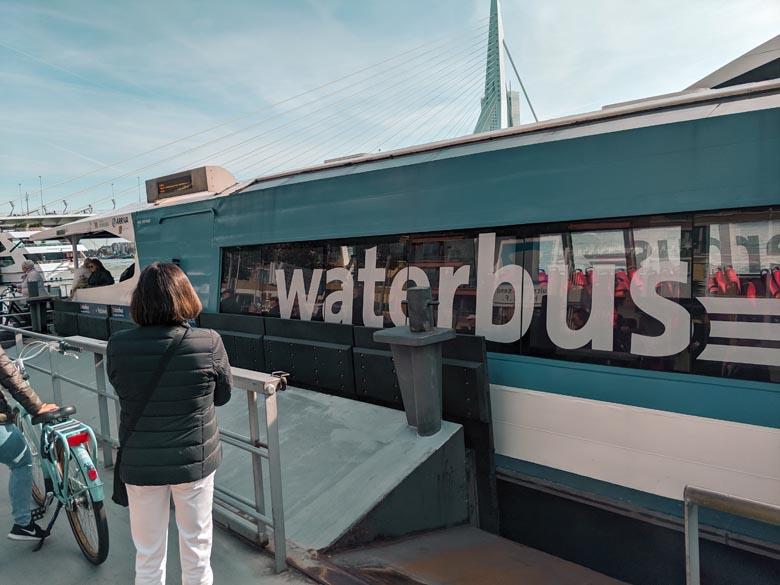 where to take waterbus 202 from rotterdam to kinderdijk windmills