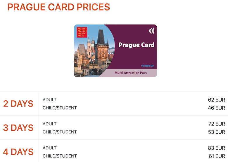 getting around in prague with the prague card prices for 2 to 4 days