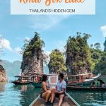 pinterest save image for khao sok lake ultimate guide
