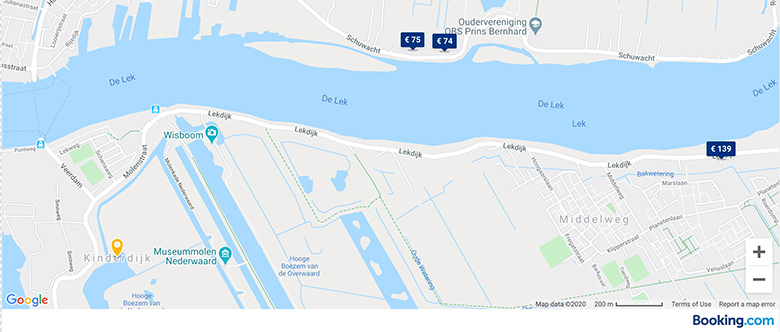 bookings.com link for accommodation options in kinderdijk