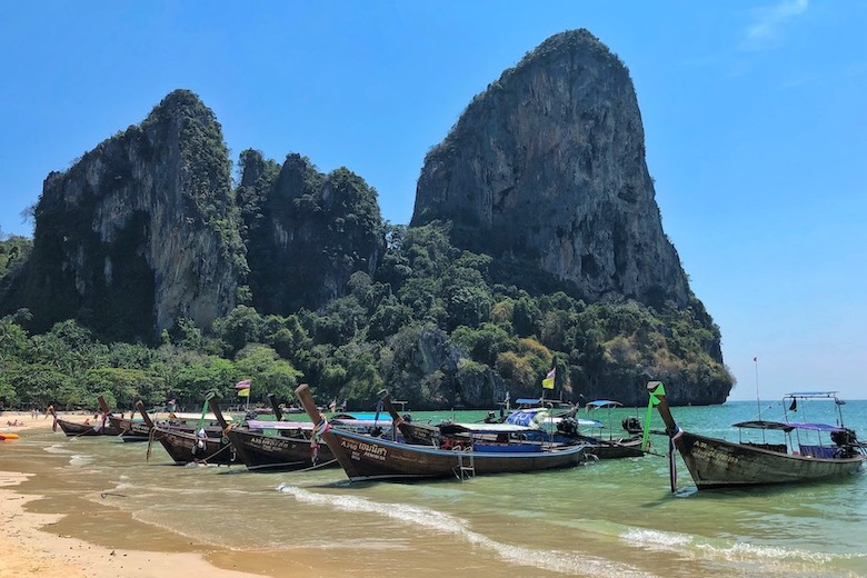 longtail boats in krabi thailand with travel tips