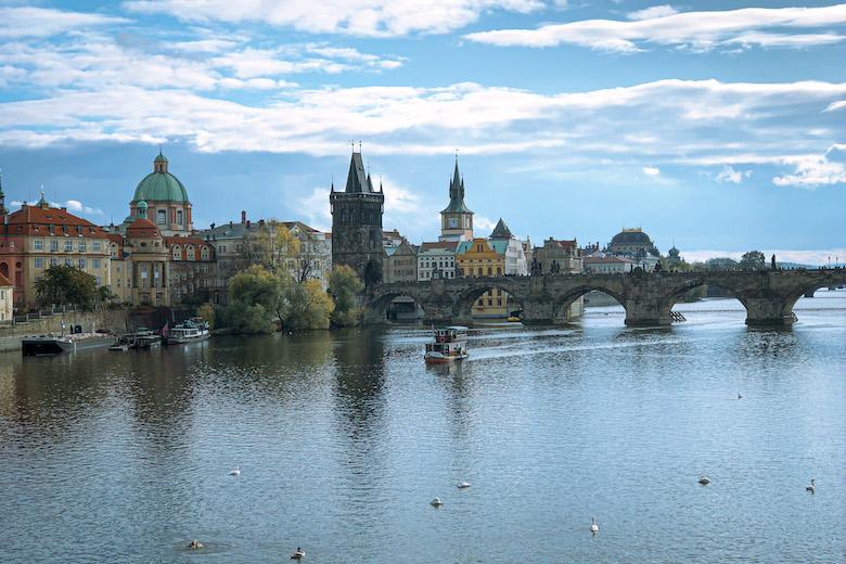 views over prague and vltava river