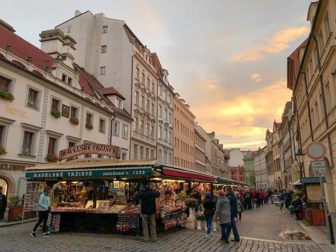 one of many prague flea and street markets