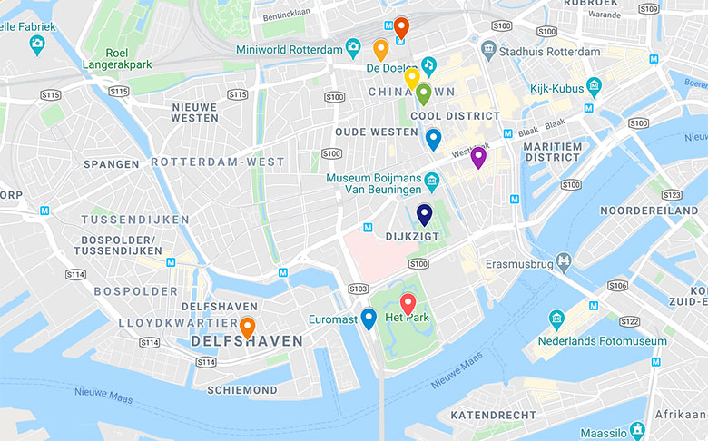 link to google map for rotterdam top places to see in 1 day itinerary