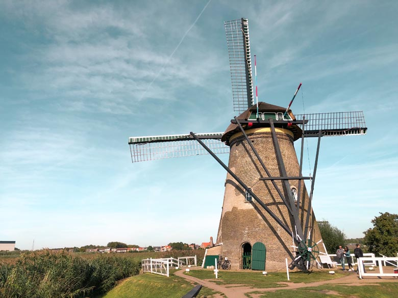traditional dutch landscape and a UNESCO world heritage site
