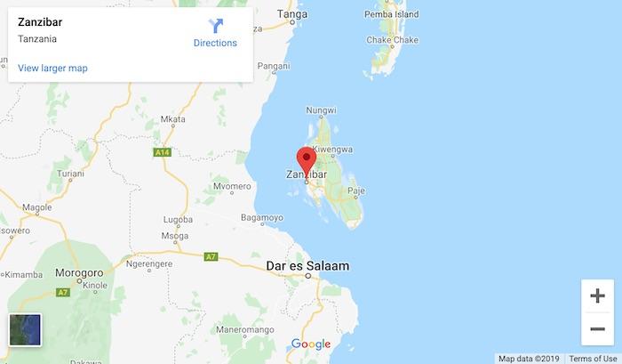 google maps of zanzibar island tanzania