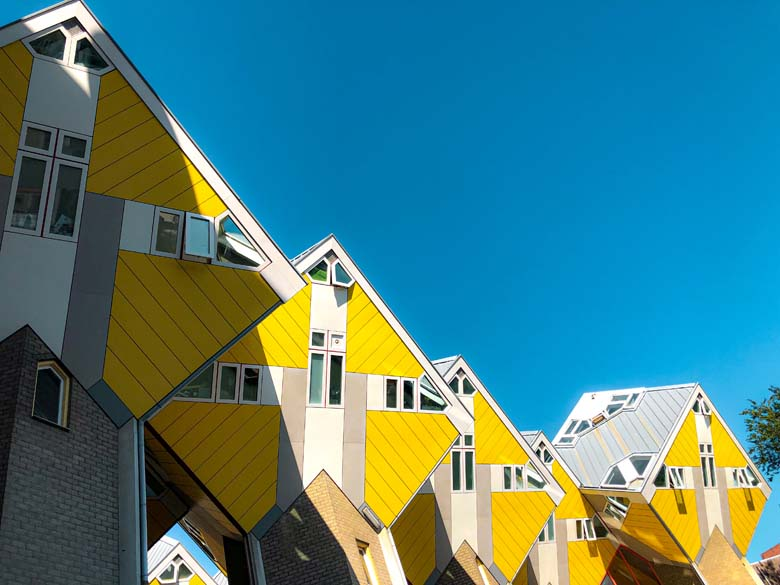 yellow cube houses in rotterdam netherlands is a top sightseeing attraction