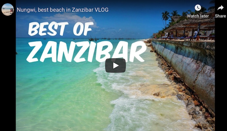 youtube link to find the best beaches in zanzibar travel guide